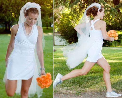прикольная свадьба  невеста бежит