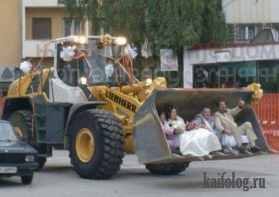 прикольная свадьба в ковше