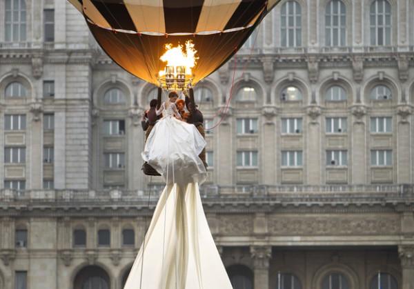 прикольная свадьба на воздушном шаре
