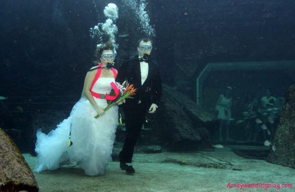 прикольная свадьба на глубине