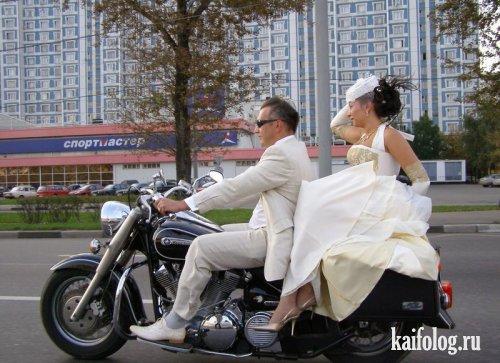 прикольная свадьба на байке
