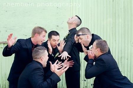 смешное фото с друзьями жениха