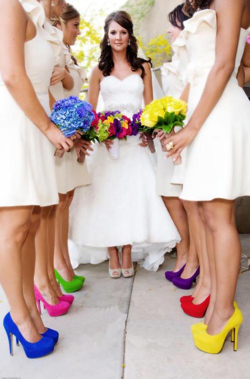 туфли: идеи фото с подружками невесты