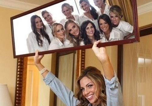 идеи фото с подружками невесты в зеркале