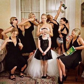 идеи необычной фото с подружками невесты