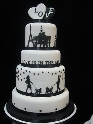 необычный свадебный торт
