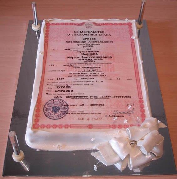 как сделать необычный свадебный торт