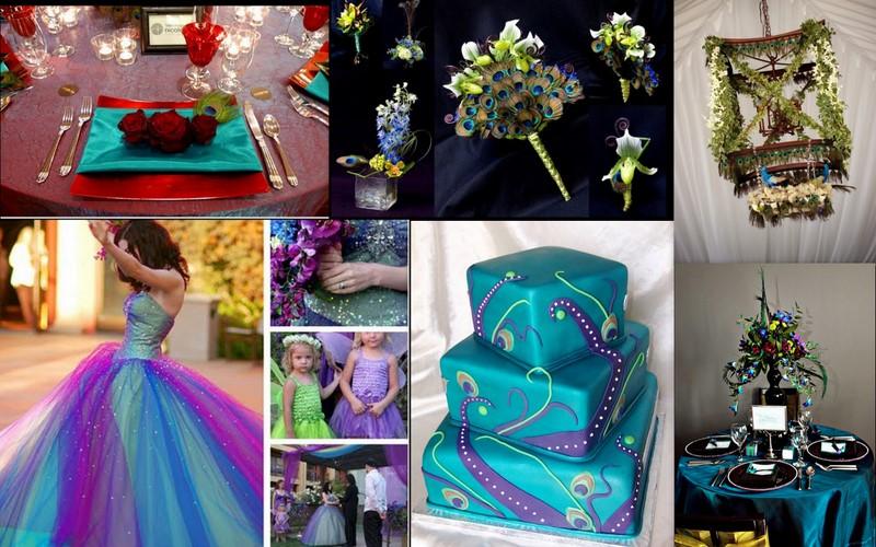 свадьба Павлины: приглашения, торт и декор