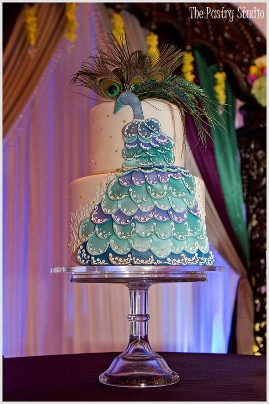 свадьба Павлины: оригинальный  свадебный торт