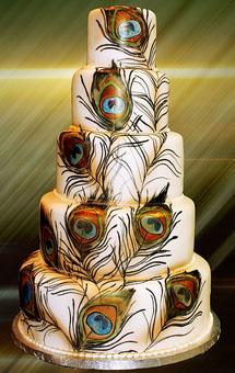 свадьба Павлины: свадебный торт
