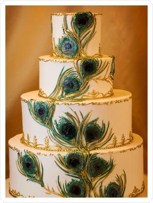 свадьба Павлины: необычный свадебный торт