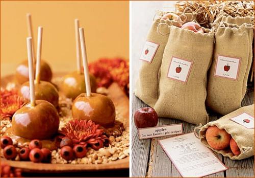 свадьба яблоки угощение гостей