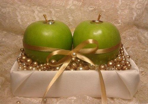 для колец свадьба в стиле яблоки
