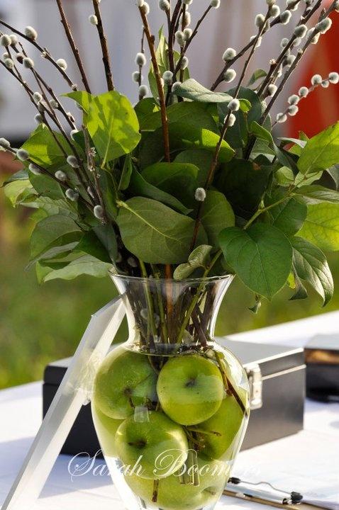 композиция свадьба в стиле яблоки
