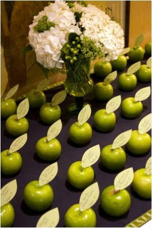 рассадка свадьба в стиле яблоки