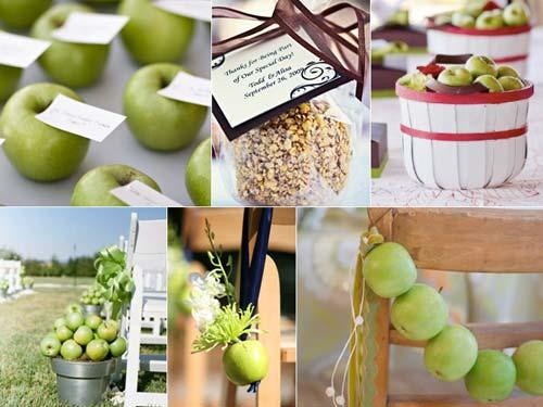 декор свадьба в стиле яблоки