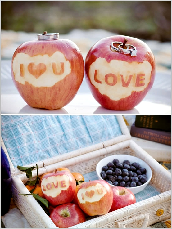 свадьба яблоки: с надписями