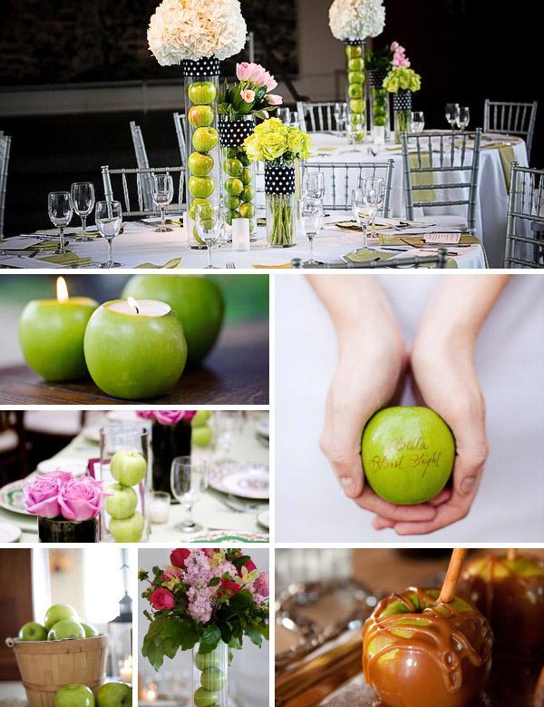 свадьба в стиле яблоки фото