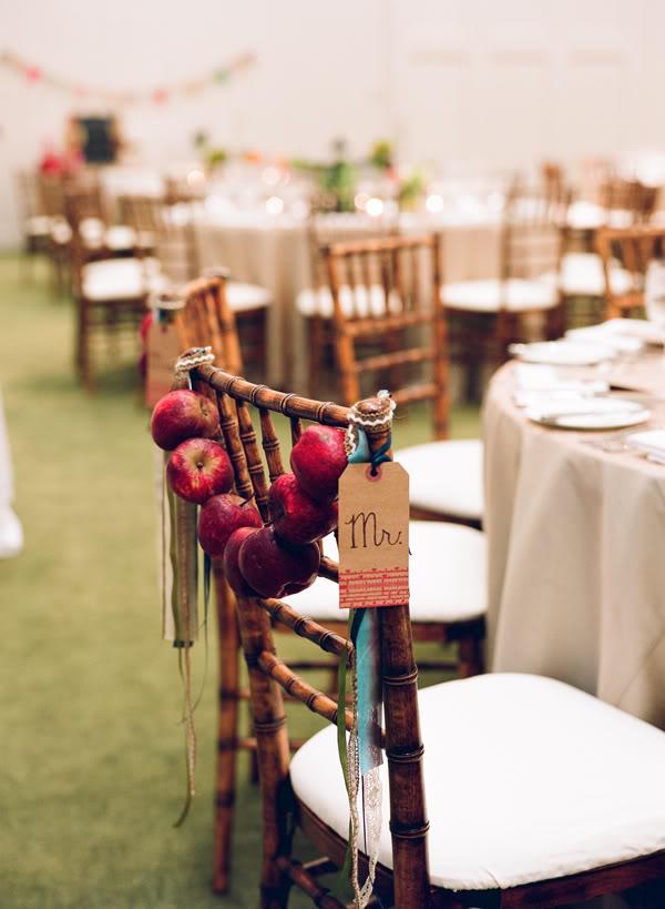 свадьба в стиле яблоки: украшение