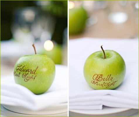 свадьба в стиле яблоки: рассадка