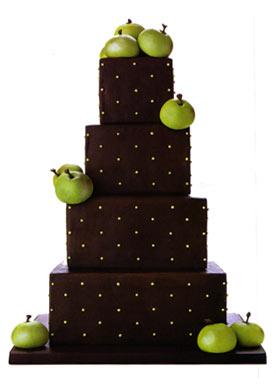креативный торт: свадьба в стиле яблоки