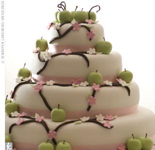 торт свадьба в стиле яблоки