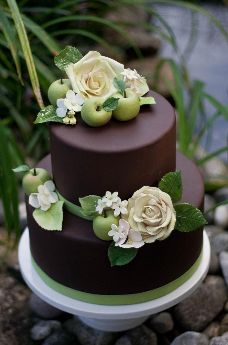 свадьба в стиле яблоки варианты тортов