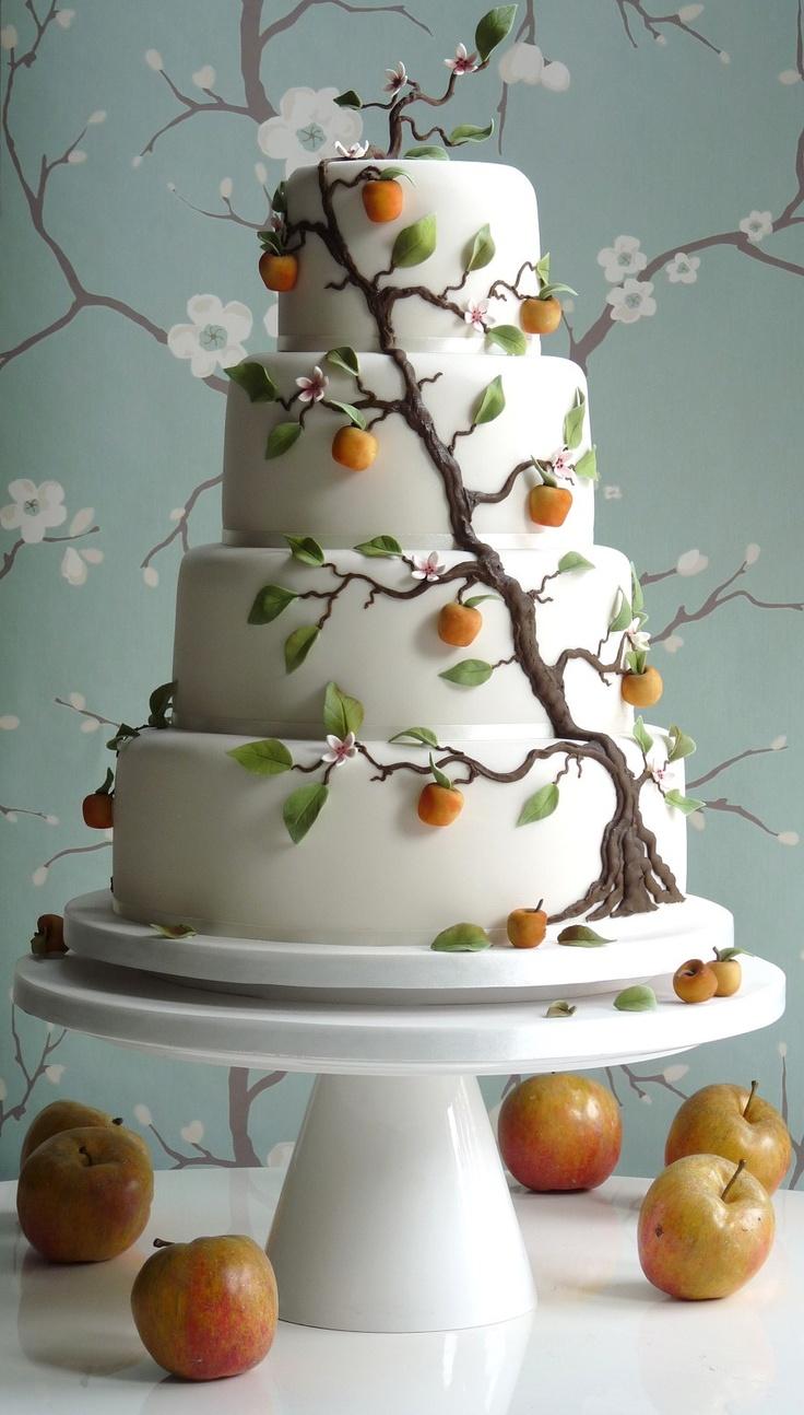 свадьба в стиле яблоки: торт