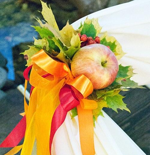 свадьба яблоки