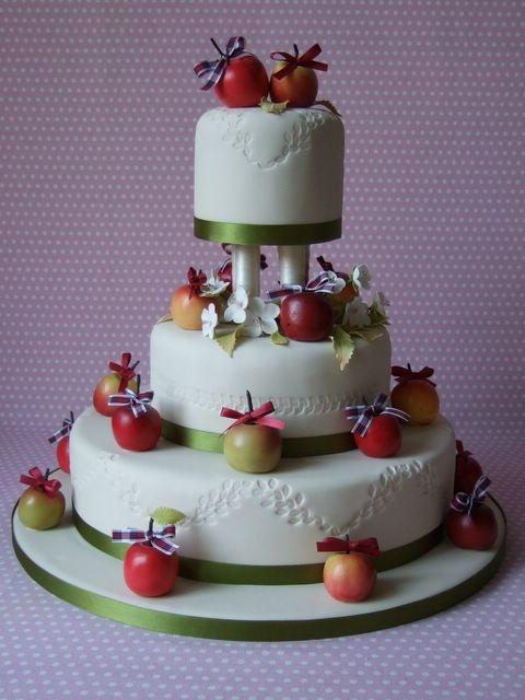 свадьба яблоки: торт с яблоками
