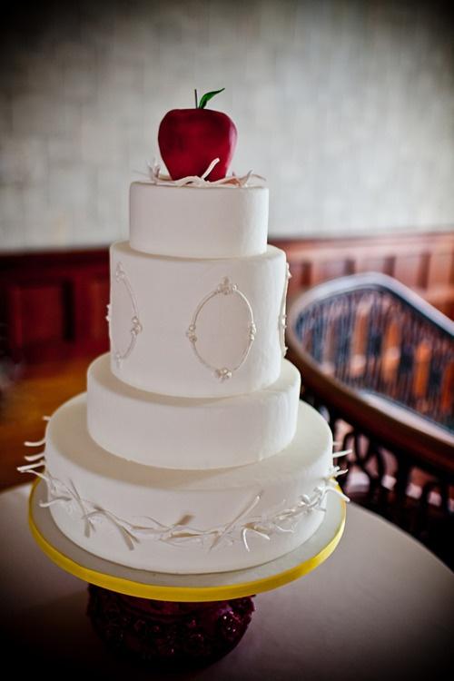 свадьба яблоки: торт