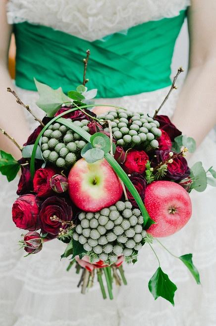 свадьба яблоки: букет