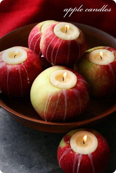свадьба яблоки: свечи