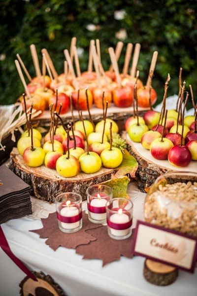 свадьба яблоки: декор стола