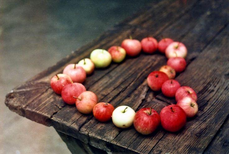 свадьба яблоки: сердце из яблок