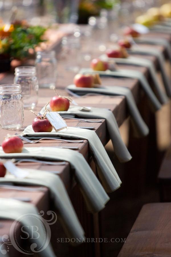 свадьба яблоки: рассадка