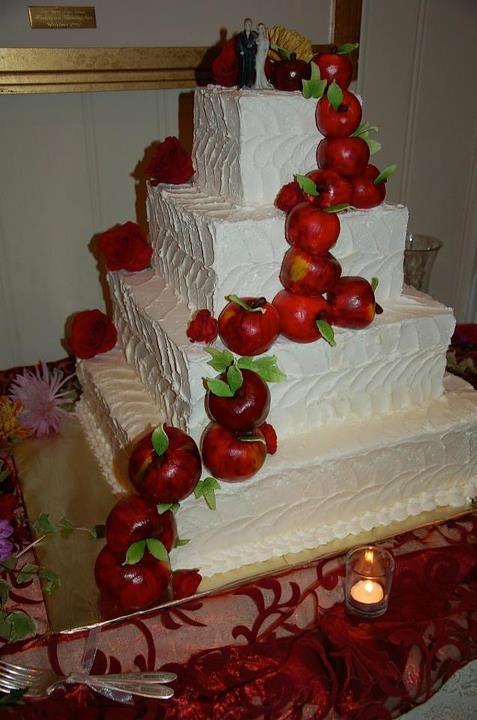 свадьба яблоки: тортик с яблочками