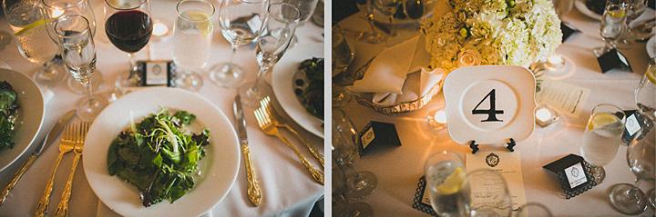 Номер стола на свадьбу: на тарелке