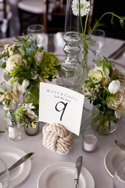 Номер стола на свадьбу для морской вечеринки