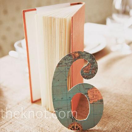 Номер стола на свадьбу для свадьбы в стиле путешествия