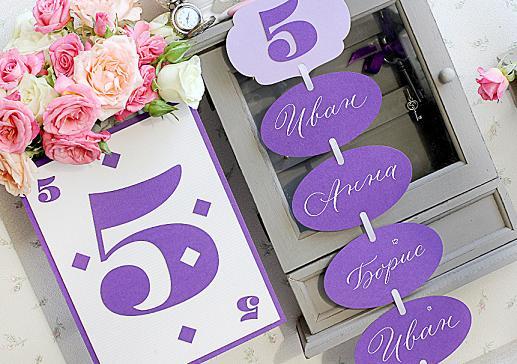 Номер стола на свадьбу игральная карта