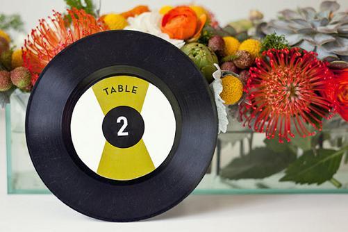Номер стола на свадьбу на вечеринку стиляги