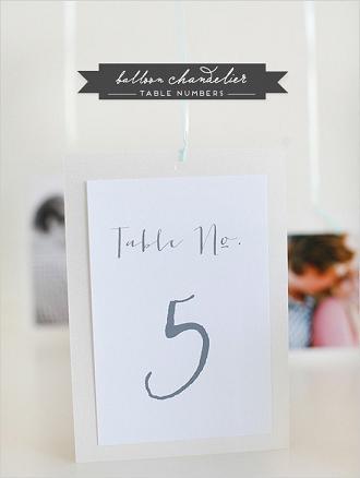 Номер стола на свадьбу: на воздушном шаре