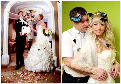оригинальный свадебный танец: бабочки