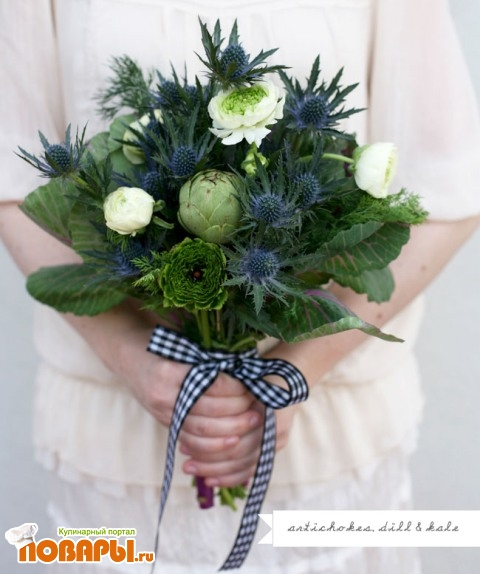 самый необычный свадебный букет