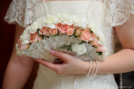 необычный свадебный букет: веер