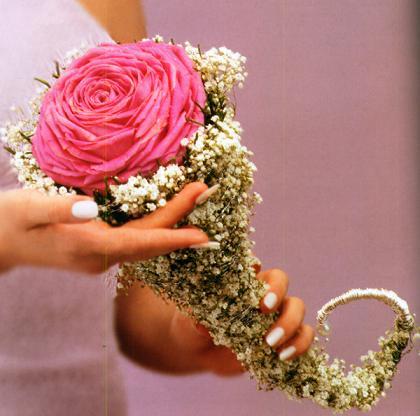 необычный свадебный букет: зонтик