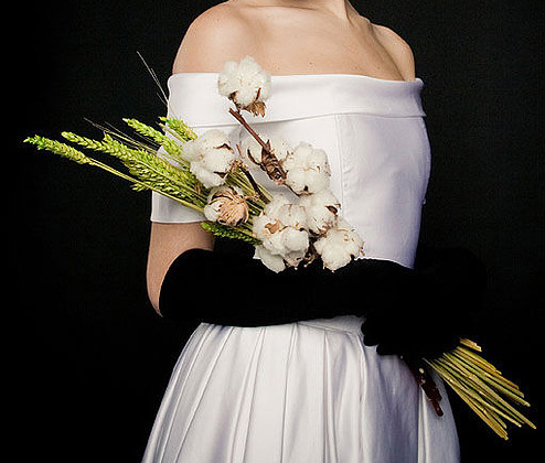 необычный свадебный букет: длинный