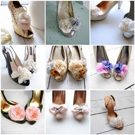 декор туфель цветами