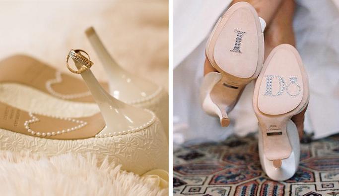 декор туфлей на свадьбу